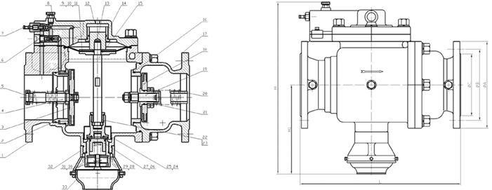 东光法兰式双膜片低阻力倒流防止器 LHS743X