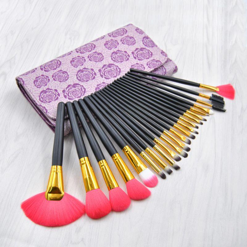 kainuoa/凯诺工厂22支化妆刷套装 时尚复古玫瑰印花化妆工具