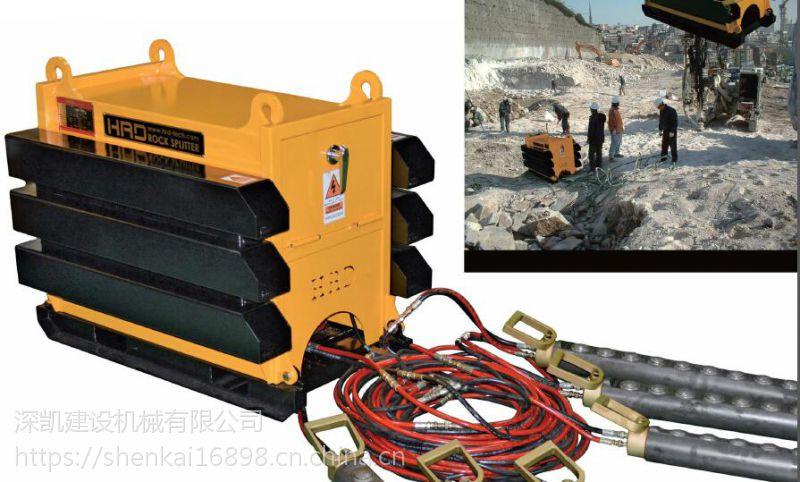 城市工程开挖地基拆除岩石机械液压分裂机推介深凯建设