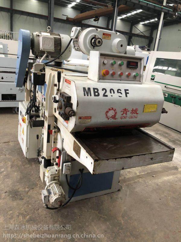出售二手木工工机械青城MB206F自动双面木工刨床