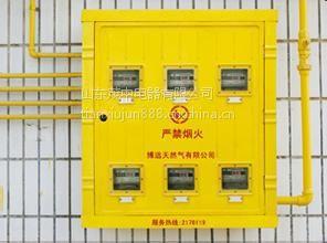 定做单表位玻璃钢燃气表箱 多表位燃气表箱 厂家