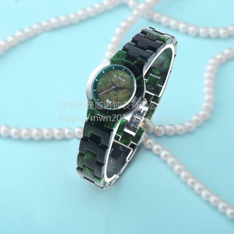 2017年跨境电商新款女式时尚彩色大理石手表