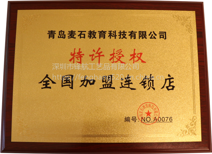 高新技术牌匾会员单位奖牌定制特许授权牌匾木质金箔奖牌制作