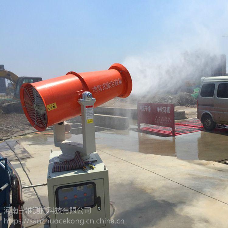 建筑工地自从有了雾炮机扬尘明显减少