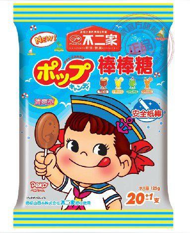 【老先森】日本不二家棒棒糖 四种口味 125g图片