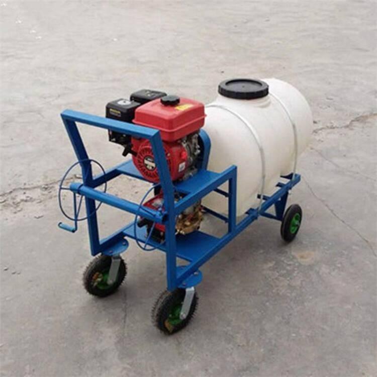 拉管式麦地打药机 果园高压喷雾器 圣鲁四冲程喷药机