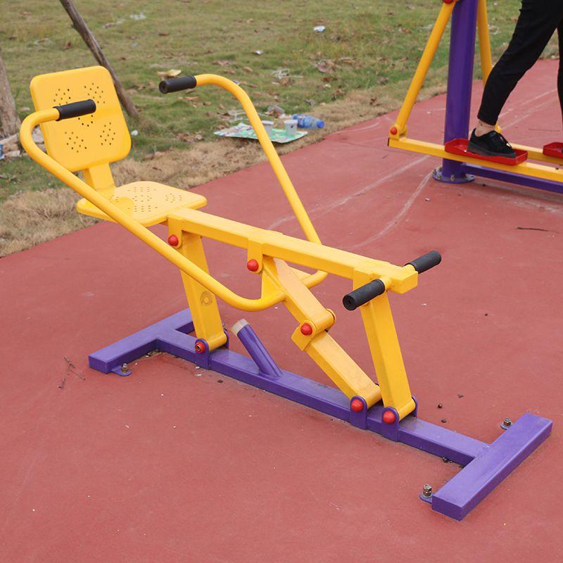 清远公园健身器材图片 批发零售114管器材 儿童压板安全不