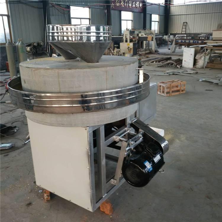 电动面粉石磨生产厂家 天然砂岩石玉米小麦面粉石磨机