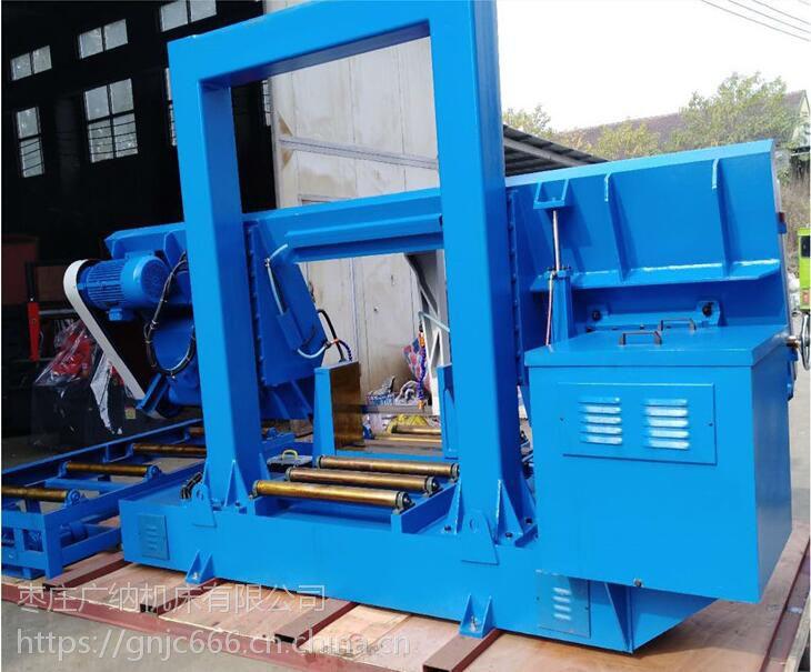 锯床厂家直销大型金属带锯床GB4280龙门式金属锯床上下线规传动