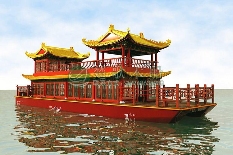 阳澄湖观光船哪有 楚风出售大型画舫船 特色餐饮船 仿古民宿船 农家乐休闲船