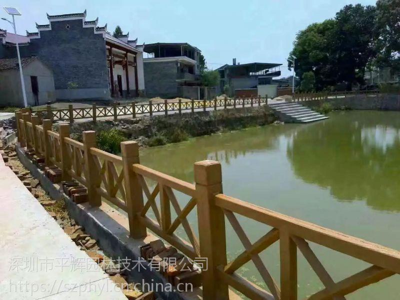 韶关湖边护栏安装|水泥塑木护栏厂家报价