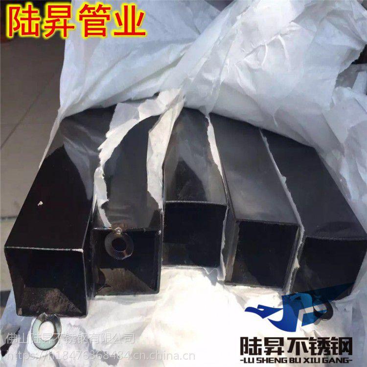 201拉丝/光面黑钛金不锈钢方管8*8*1.3