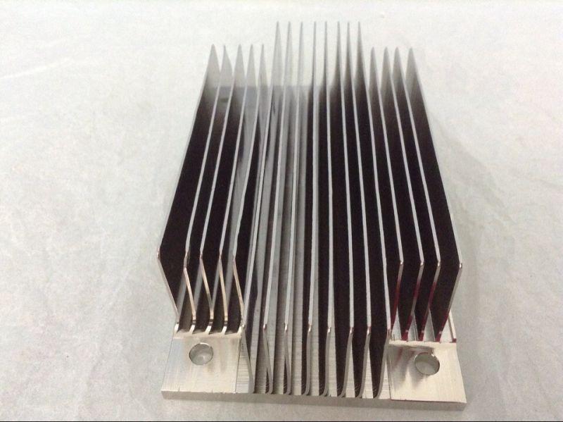 阳极氧化铲齿散热器,精密齿片散热器,纯铜铲齿散热器