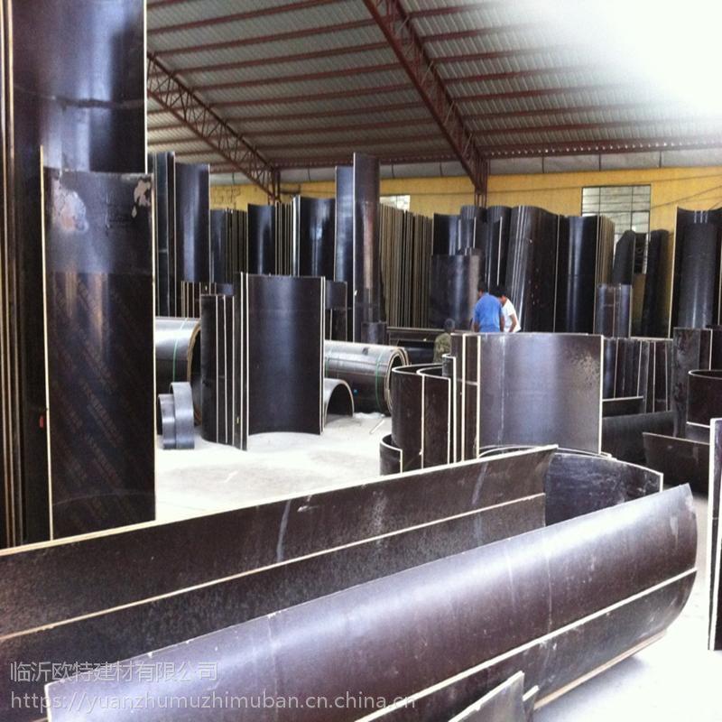 欧特古建筑门柱浇筑模板|木质圆柱模板厂家规格001
