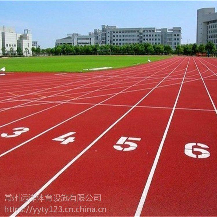 施工体育场高弹性跑道混合型塑胶跑道施工供应跑道彩色耐磨颗粒