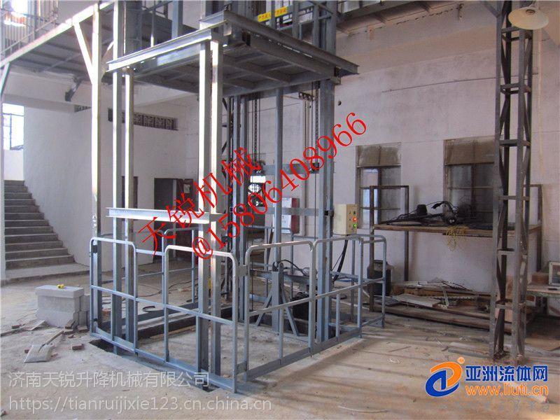 厂房液压防爆货梯、导轨式升降货梯天锐液压升降平台厂家