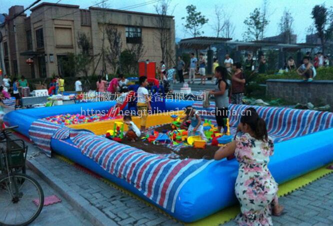 加厚充气海洋球池 室外儿童宝宝充气沙池 幼儿园决明子沙池沙滩池定制大小