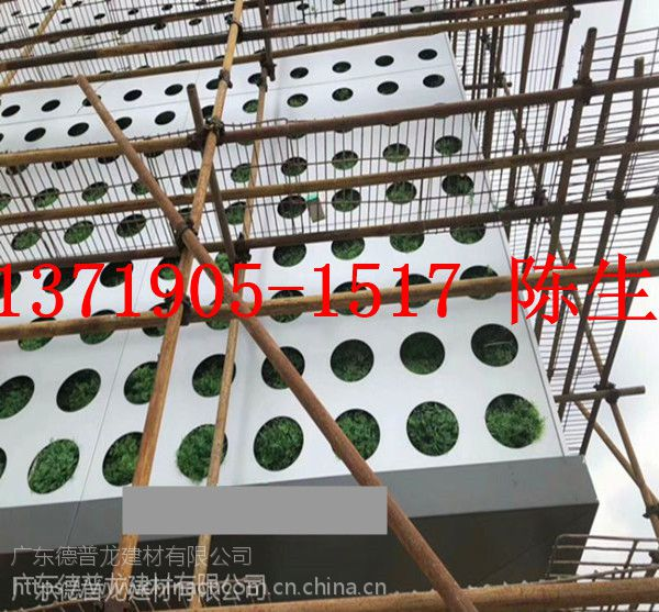 湖北广汽传祺新能源汽车4S店装饰大孔板 银灰色冲孔铝单板
