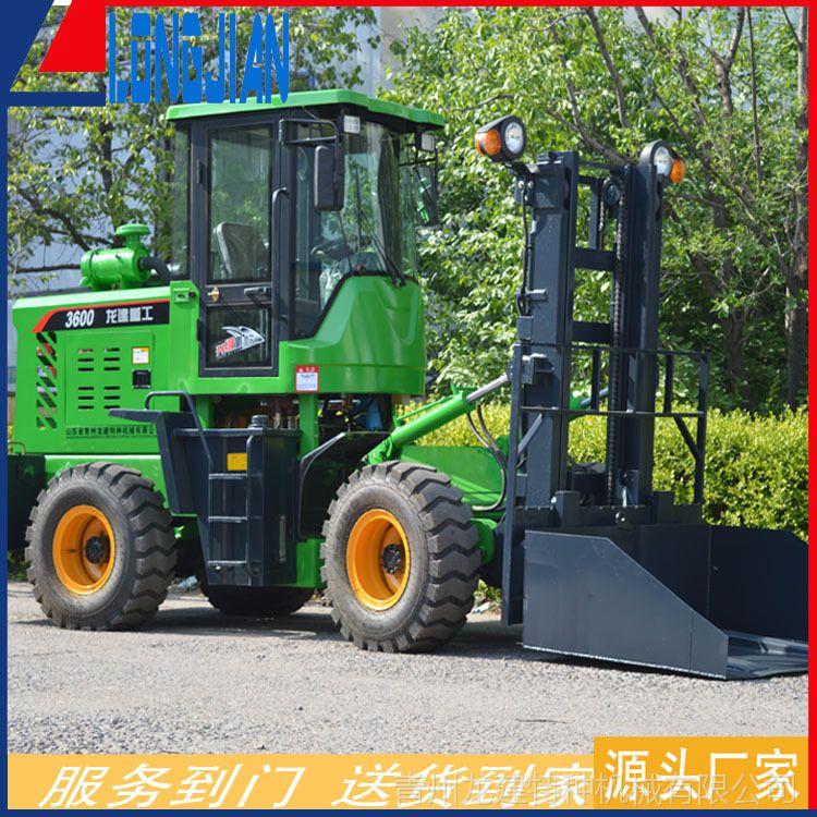 A3吨越野叉车 四驱叉车 堆高叉车 山东青州龙建厂家直销
