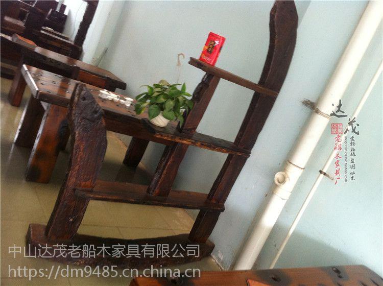 老船木博古架茶叶柜古董置物架实木产品展示柜多宝阁做旧古玩架