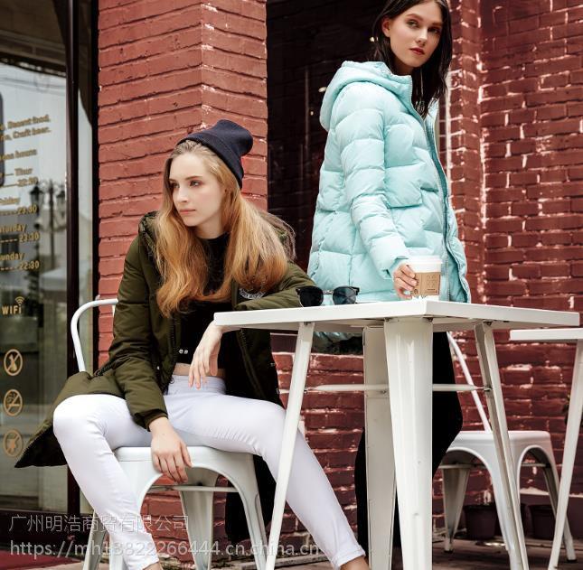 鸭宝宝羽绒服女装品牌折扣货源市场 折扣女装好做吗
