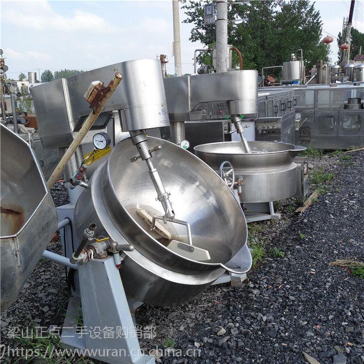 出售300L二手蒸汽夹层锅,带行星搅拌功能