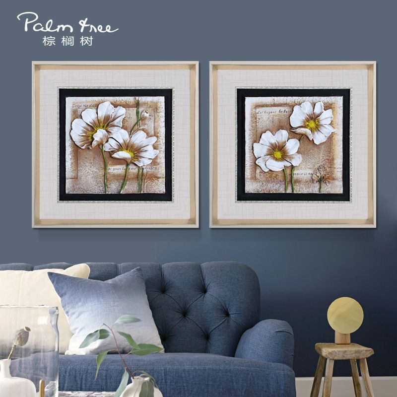 沙发背景墙装饰画 客厅欧式立体浮雕画 现代简约树脂画 厂家直销图片