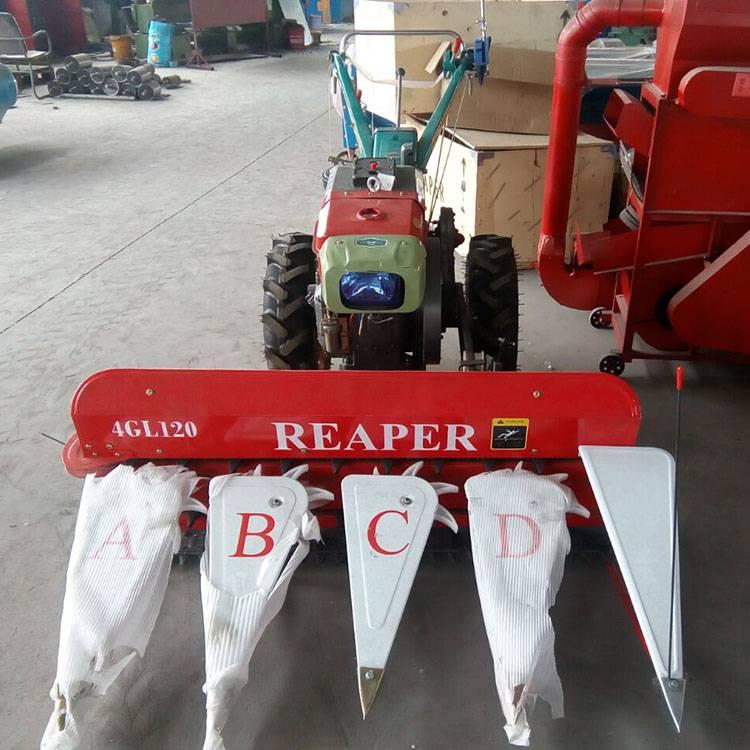 柴油动力多功能收割机 新型前置式割台 玉米秸秆汽油收割机