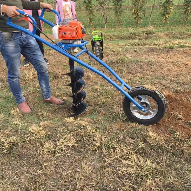 汽油植树挖坑机 富兴植树造林打坑机 铁路护栏钻眼机价格