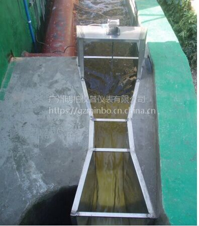 污水不锈钢巴歇尔计量槽厂家直销超声波明渠流量计 明柏仪表