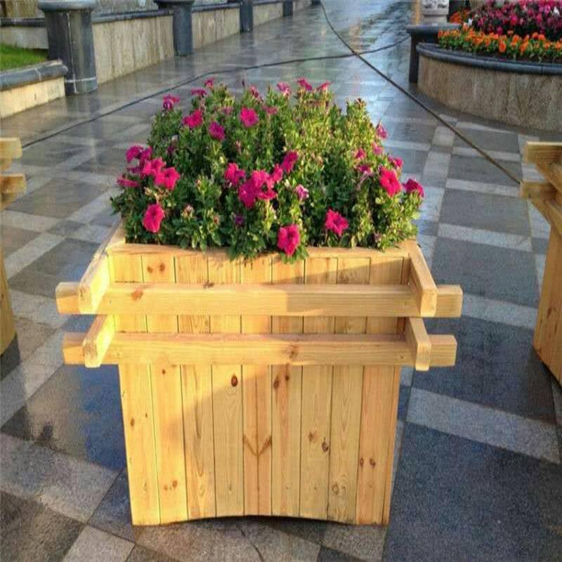 保定市防腐木花箱质量好,绿化花箱批量价优,质量好