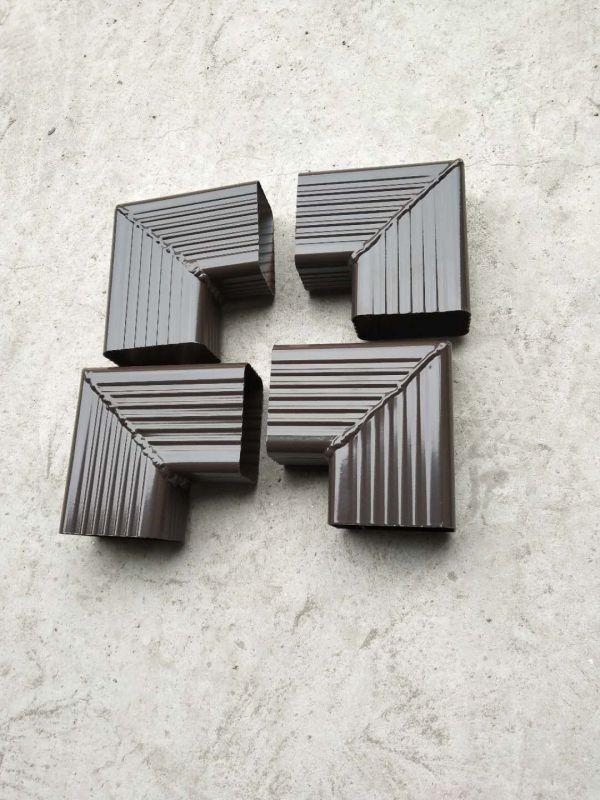 铝合金方形雨水管弯头,排水管配件转角