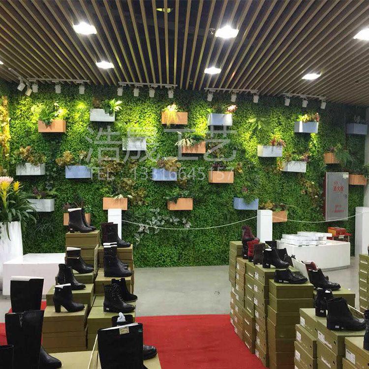 塑料仿真绿植工厂?浩晟仿真植物墙 人造专用婚庆绿植墙 饭馆绿景墙包安装