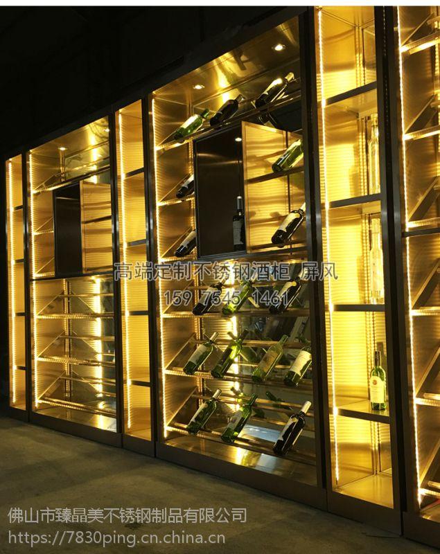 别墅酒窖酒柜、拉丝恒温酒柜案例、欧式红酒柜商机