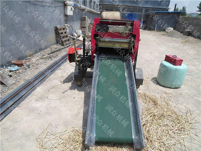 青贮牧草储存包膜机 液压秸秆打捆包膜机 润众定制