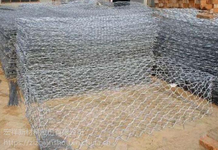 宏祥防洪护堤专用石笼网格宾河道治理低碳钢丝石笼网