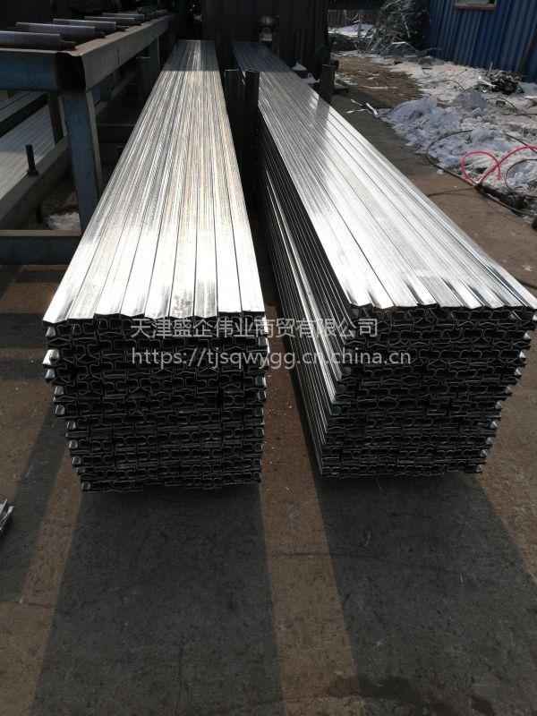 天津优质50*50镀锌双面凹槽管现货 大量供应