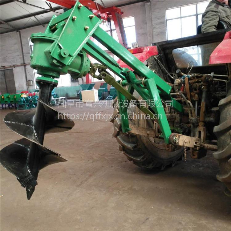 南陵县汽油植树挖坑机 富兴双人地钻钻眼机 葡萄树打坑机厂家