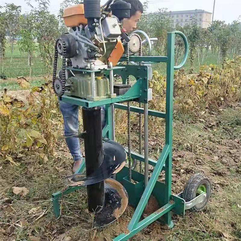 便携式手提挖坑机 多功能启航牌单人手提式汽油挖坑机 汽油挖洞机价格