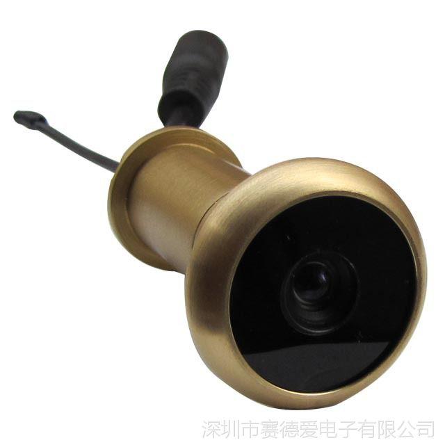 热销5.8G无线电子猫眼摄像系统(90度,24频道,5寸高清,移动侦测)