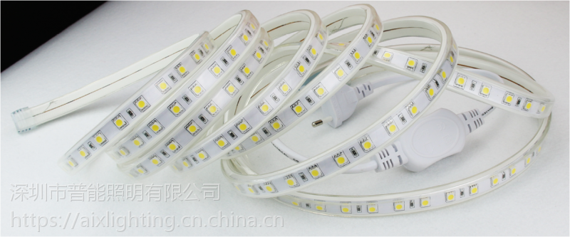 供应5050RGB-60-220V高压灯带