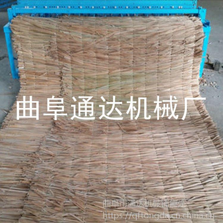 供应多种规格草帘机 电动稻草帘编织机 通达牌 全自动大棚草帘机