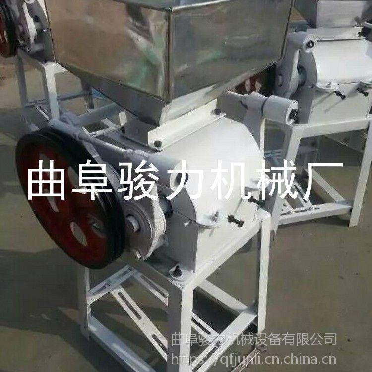 供应 熟花生米破碎机 酿酒用粮食高粱加工设备 骏力牌 电动扎胚机
