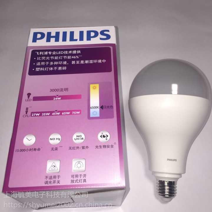 飞利浦皓亮型LED大球泡40W E40 220-240V