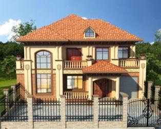 南昌别墅设计AT1798二层带车库/错层/简欧式豪华别墅设计图纸16mX14m