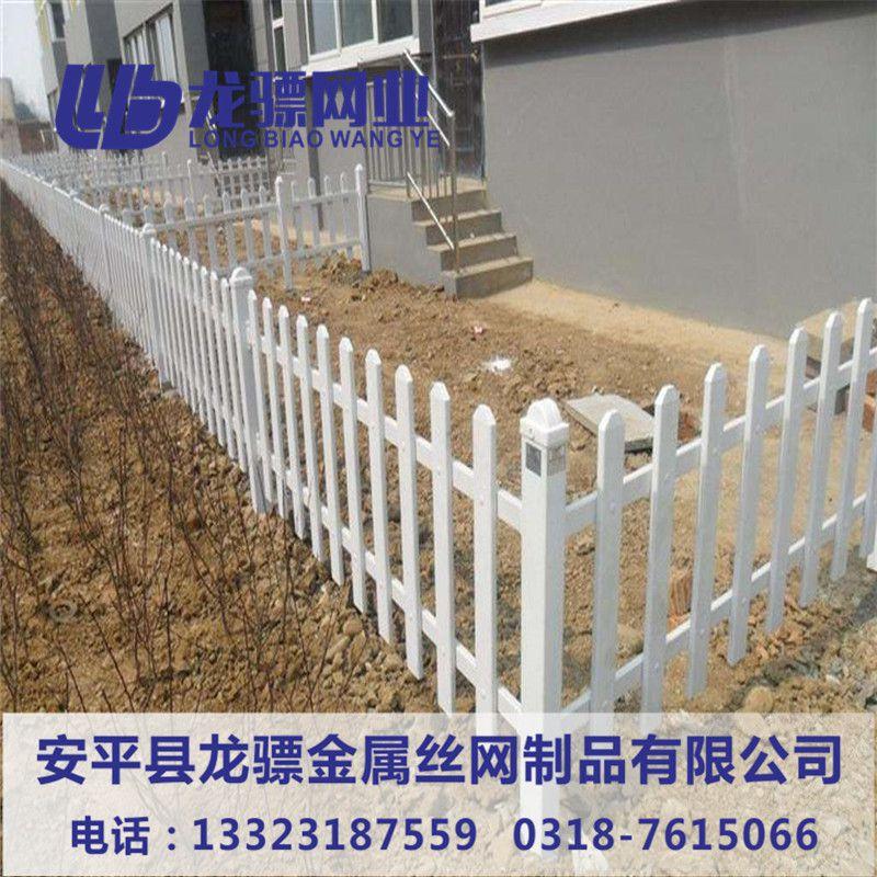 园艺护栏 河北PVC草坪护栏 公园绿化带围栏