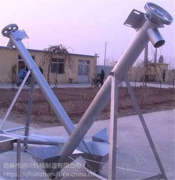 润众多种管径供您选择的上料机 304不锈钢粮食机械提升机