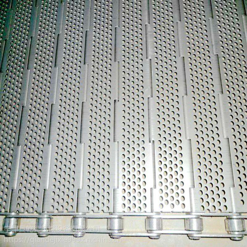 木耳分拣输送机链板 不锈钢冲孔清洗链板传送带机械厂家