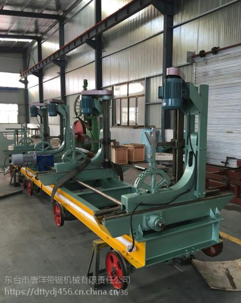 南通供应周边4米4桩电动丝杆跑车 MJ3210原木带锯机 自动磨锯条机
