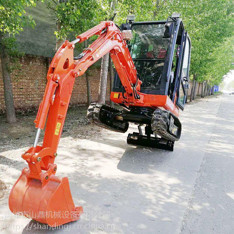 栽树用的小型挖掘机 自来水及电缆管道用微型挖掘机 矿井及隧道施工用山鼎小挖机